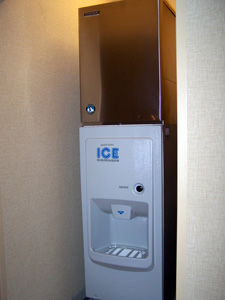 Ice machines and refrigerated units for hotels and lodgings