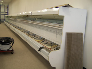 Coldstat Refrigeration's New Equipment Installations - Empty Open-Air Vegetable Display Case