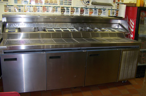 Under-counter and lowboy coolers and freezers